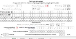 Образец заполнения нулевой декларации при закрытии ИП